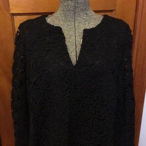 Talbots Black Lace Formal Dress 16W